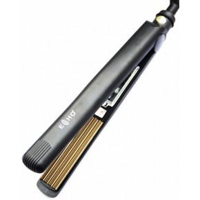 Щипцы гофре для волос ECHO QY-1006 черные | Утюжок гофре Эхо черный