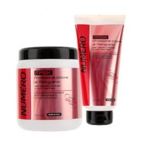 Маска для окрашенных и мелированных волос с экстрактом граната Брелил 1000 | Colour Protection Mask With Pomegranate Brelil 1000
