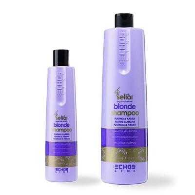 Шампунь с микрочастицами платины и аргановым маслом 1000 | EchosLine Blonde Shampoo