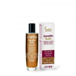 Восстанавливающий флюид с маслом Аргании и кератином Экослайн| EchosLine Seliar Keratin Fluid
