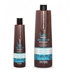 Нормализующий шампунь против жирной кожи головы | EchosLine Rebalance Shampoo