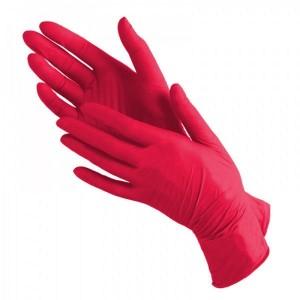 Перчатки одноразовые нитриловые Эстель розовые размер М 1 пара | Nitrile GLoves Estel M'use Rose M 1pair