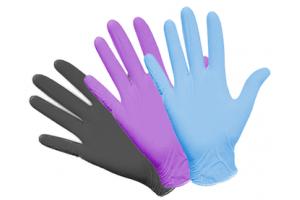 Перчатки одноразовые цветные нитриловые, виниловые , полиэтиленовые