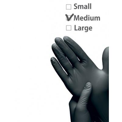 Перчатки нитриловые черные размер M | Nitrile GLoves Black M
