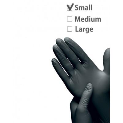 Перчатки нитриловые черные размер S | Nitrile GLoves Black S