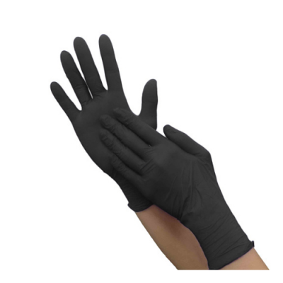 Перчатки нитриловые черные размер M | Nitrile GLoves Black M 1 pair