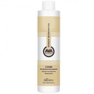 Восстанавливающий шампунь для поврежденных волос с пшеничными протеинами Каарал X-PURE RECONSTRUCTIVE SHAMPOO Kaaral