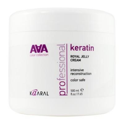 Питательная крем-маска для восстановления окрашенных и химически обработанных волос | Kaaral Keratin Royal Jelly Cream AAA